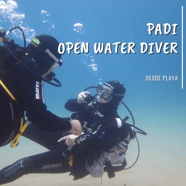 Padi Open Water Diver Playa La Azohía